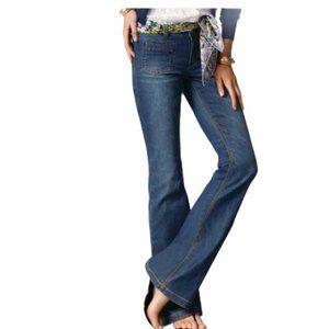 CAbi Farrah Flare Jeans 6 Wide Leg 762R Denim